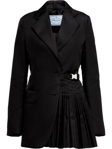 Prada single-breasted gabardine jacket - Black