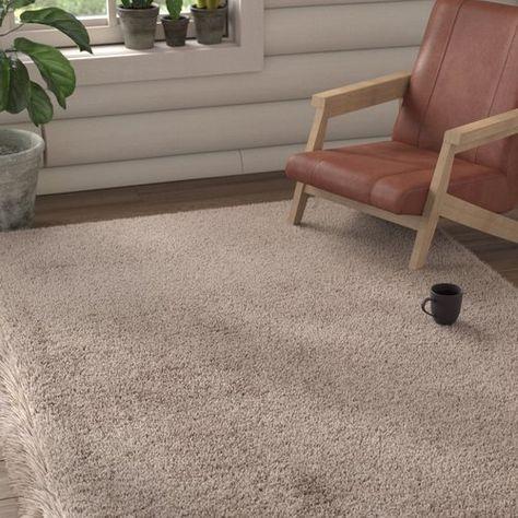 17 Stories Light Brown Area Rug Textured Carpet Brown Carpet Patterned Carpet