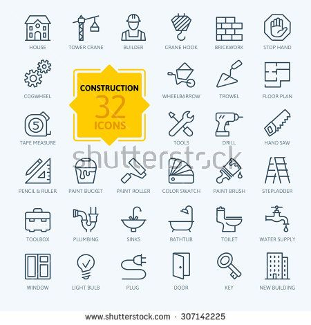 Outline Web Icons Set Construction Home Repair Tools Icon Set Web Icons Business Icon