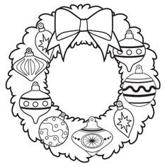 ornament wreath coloring page free christmas recipes coloring pages for kids santa letters - Coloring Sheets Christmas Free