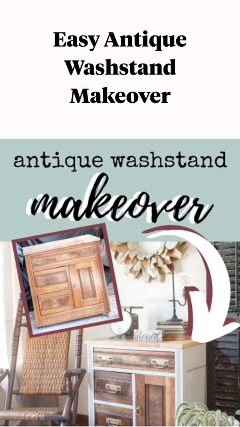 Easy Antique Washstand Makeover