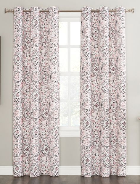 Mila Textured Woven Grommet Curtain Panel In 2020 Grommet