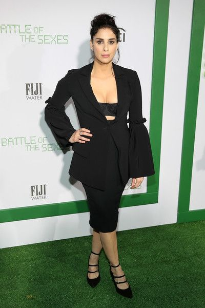 Sarah Silverman attends the 'Battle of the Sexes' Los Angeles Premiere.