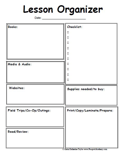 teaching planning template