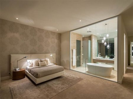 HomeDzine Imagine A Home Without Brick Interior Walls - Open plan bathroom and bedroom designs