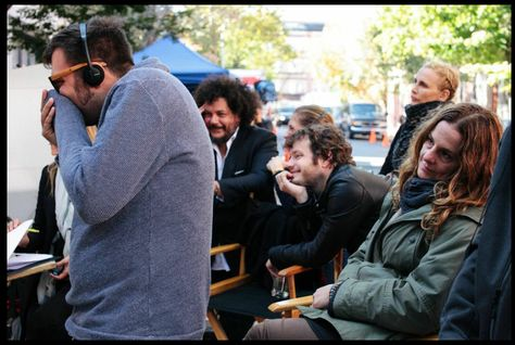 "#charmcolorfully a laugh on the set of ""the waiting game"" starring anna kendrick"