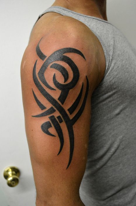 Tribal Simple Tribal Tattoos Tribal Tattoos Upper Arm Tattoos For Guys