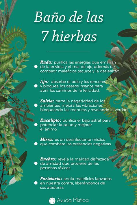 Si sientes que es hora de ver la vida con nuevos ojos, ¡el baño de las 7 hierbas puede ayudarte a dar ese giro positivo a tu vida!  #hierbas #baño #rituales