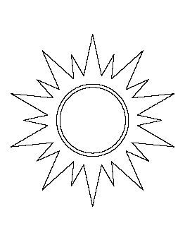 picture regarding Sun Stencil Printable identified as Sunlight Practice Sunday University Solar template, String artwork