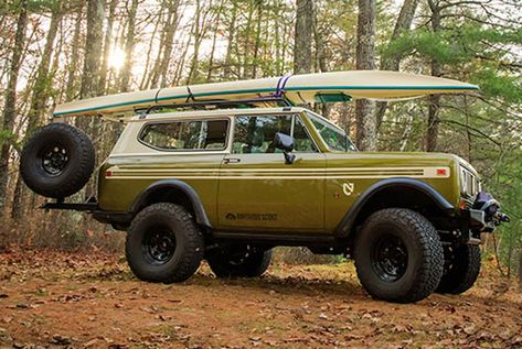 In as far as elegance and creativity are concerned, no custom scout compares to the International Scout LSII-One. International Pickup Truck, International Scout Ii, International Harvester Truck, Jeep Scout, 4x4, Bronco Truck, Old Trucks, Chevy Trucks, Pickup Trucks