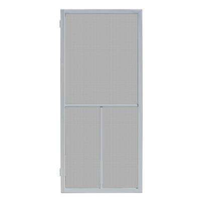 32 In X 80 In Ventura Grey Outswing Metal Hinged Screen Door Unique House Design Screen Door House Design