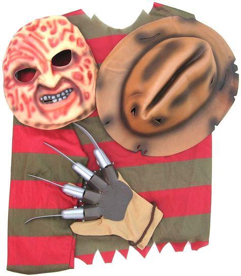 NIGHTMARE ON ELM STREET FREDDY KRUEGER Kruger COSTUME SHIRT HAT MASK GLOVE Adult #Rubies #HatShirtMaskGlove