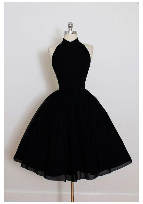 Prom Dresses For Teens, Cute Prom Dresses, Pretty Dresses, Short Dresses, Dress Long, Black Formal Dress Short, Long Black, Short Evening Dresses, Retro Prom Dress