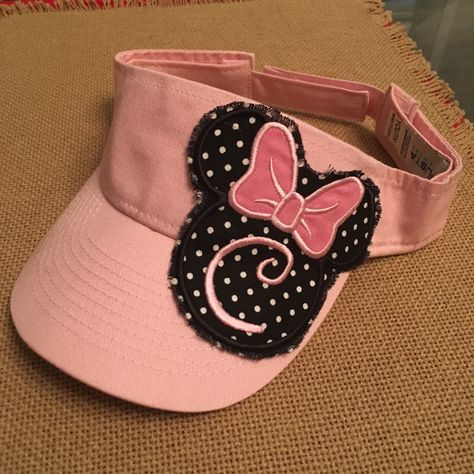 be93cbcd8 Visor with Monogrammed Minnie Mouse ragged patch