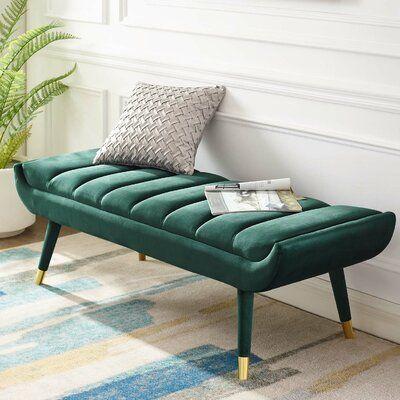 Mercer41 Mackay Upholstered Bench Wayfair In 2020 Upholstered Bench Living Room Bench Accent Bench