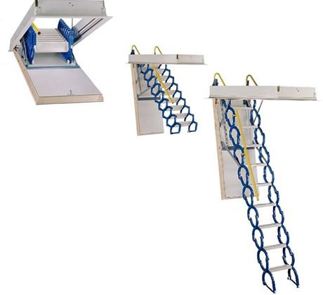 from fakro scissors attic ladder no sharp corners or cumbersome unit to fold and snap back