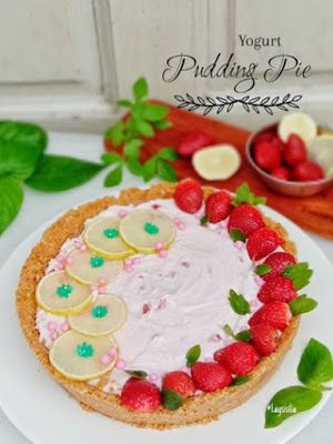 Yogurt Strawberry Pudding Pie Di 2020 Resep Kue Stroberi Puding