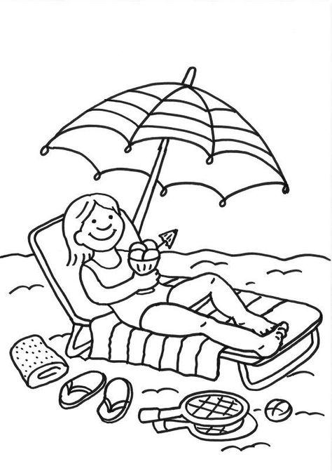 kostenlose malvorlagen für den sommer ausmalbild sommer