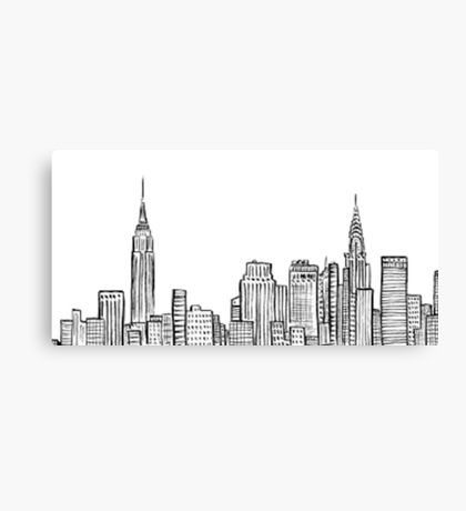 Chicago Skyline Outline Canvas Print By Emmybdesigns Canvas Prints Chicago Skyline Canvas