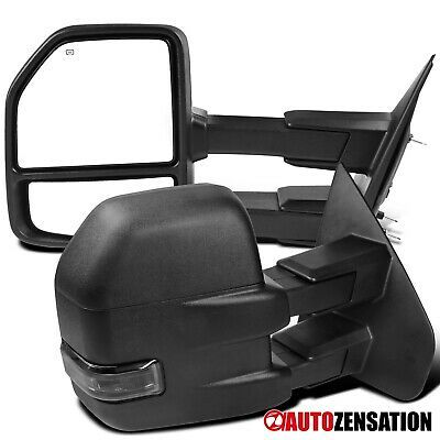 Sponsored Ebay For 2004 2006 Ford F150 Black Power Heat Tow Side Mirrors Smoke Led Turn Signal In 2020 2006 Ford F150 Ford F150 F150