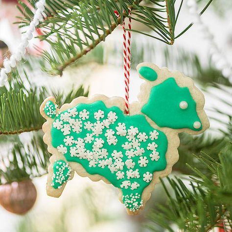 Christmas cookie baking is a great way to get the whole family together! Use leftover crisp cookies as ornaments on your tree! http://www.bhg.com/christmas/ornaments/easy-christmas-ornaments/?socsrc=bhgpin122314crispcookieornaments&page=8