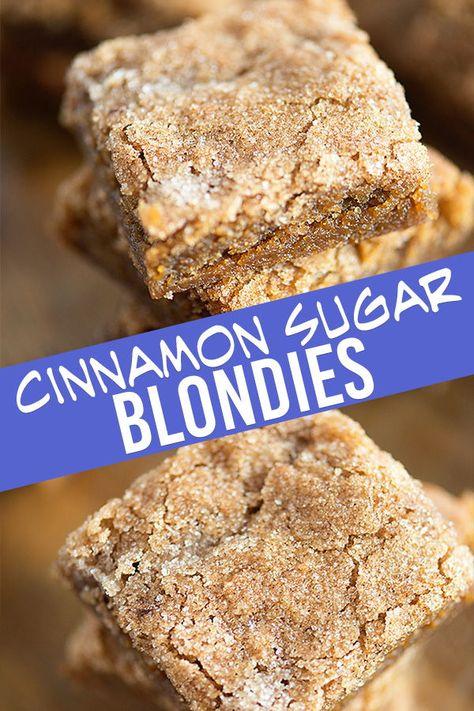 Cinnamon Sugar Blondies