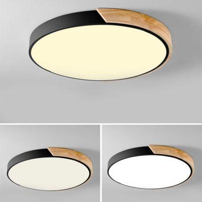 Macaron Modern Acrylic Round Flushmount Kids Bedroom Led Ceiling