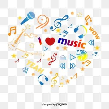 Alphabet Five Pointed Star Musical Note Heart Shape Colorful Elements Of Collage Five Pointed Star Musical Note Element Alphabet Poster Music Symbols Clip Art