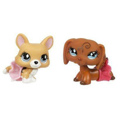 """Littlest Pet Shop Pet Pairs Corgi & Dachshund  Littlest Pet Shop Fanciest Corgi #639 and Dachshund #640. Pet come with 2 skirts. Each pet contains magnet. The Toys are about 2 """" tall with a big heads. Littlest Pet Shop Littlest Pet Shop Corgi #639 and Dachshund #640 Littlest Pet Shop Littlest Pet Shop Corgi #639 and Dachshund #640 Fanciest Littlest Pet Shop Littlest Pet Shop Corgi #639 and Dachshund #640 Littlest Pet Shop Littlest Pet Shop Corgi #639 and Dachshund #640 Fanciest Dogs .."""