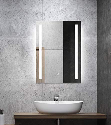 Specchio Da Bagno Con Luci Led.Alldrei Specchio Da Bagno Con Illuminazione Ad27 Specchio Da Bagno