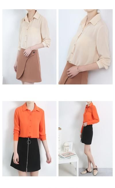 231c3654912 New Women's Shirt Classic Chiffon Blouse Female Plus Size Loose Long S -  sheheonline