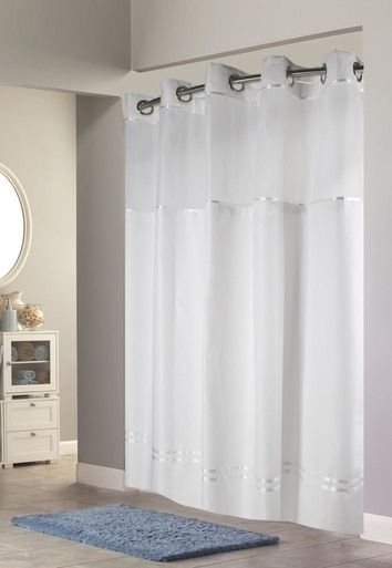Escape Hookless Shower Curtain With It S A Snap Liner Hookless