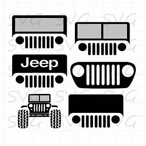 Silhouette Jeep Grill Svg