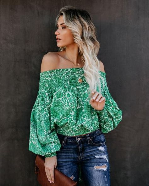 4e515770dd33 Smocked Garden Of Eden Off The Shoulder Top in 2019 | My Style ...