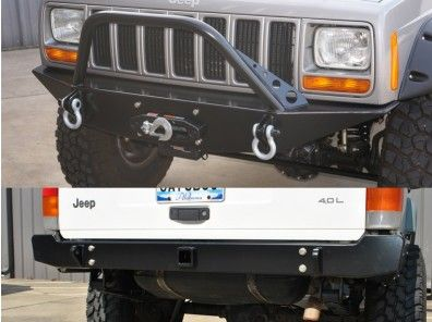 Rusty S Bumpers New Front W Pre Runner Bar Rear Trail Bumper Package Xj Pre Runner Jeep Xj Bumpers