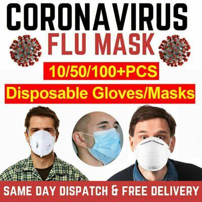 Ad Ebay 100pcs Face Mask 3ply Disposable Medical Masks Uk In 2020 Medical Masks Personal Protective Equipment Medical