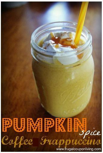 Pumpkin spice coffee frappuccino