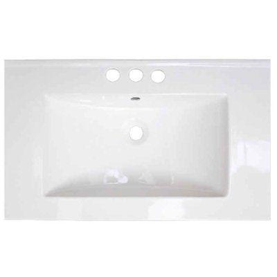 Pic Of American Imaginations Flair Ceramic Single Bathroom Vanity Top Faucet Mount Single Hole