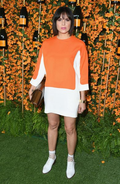 Lana Parrilla attends the 9th Annual Veuve Clicquot Polo Classic Los Angeles at Will Rogers State Historic Park.