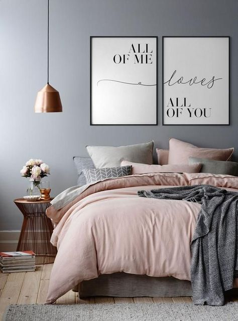 All of me Loves all of you, Set of 2, Couple print, Love quote, Bedroom print, Anniversary gifts, Lo