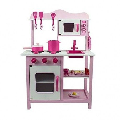 Drewniana Kuchnia Dla Dzieci Classic Rozowa Toy Kitchen Wooden Kitchen Set Wooden Playset