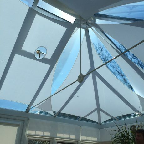 A Shade Blind For Conservatory Roof Sails In Yorkshire In 2020 Shades Blinds Conservatory Roof Blinds