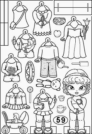 Pin Von Jubjang Ja Auf Color Your Own Paper Dolls Ausmalbilder Ausmalen