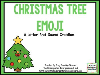 Students Will Love Practicing Their Letters With These Christmas Tree Emoji Letters Stude Tree Emoji Kindergarten Smorgasboard Uppercase And Lowercase Letters