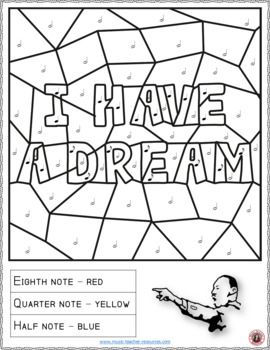 Martin Luther King Jr Music Coloring Pages Immagini