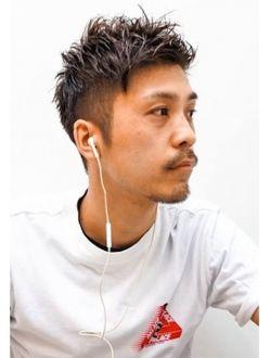 サイドパートショートワイルドアップバングクラウドマッシュ00 メンズヘアカット メンズ ヘアスタイル 髪型 メンズ 30代