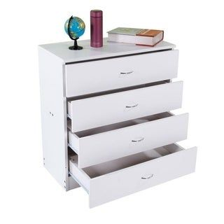 3 4 Drawers Dresser Wood Chest Cabinet For Closet To Storing