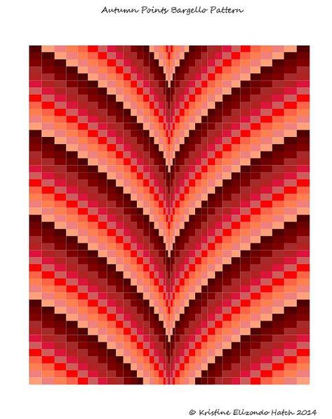 Autumn Points Bargello Quilt Pattern & by stickysugarstitches, $8.00