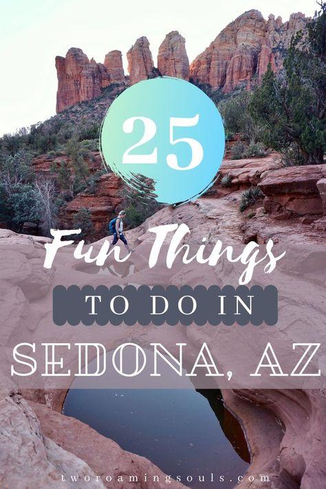 25 Fun Things To Do In Sedona, AZ - tworoamingsouls Arizona Travel, Sedona Arizona, Arizona Trip, Sedona To Grand Canyon, Cottonwood Arizona, Us Travel Destinations, Places To Travel, Croatia Travel Guide, International Travel Tips