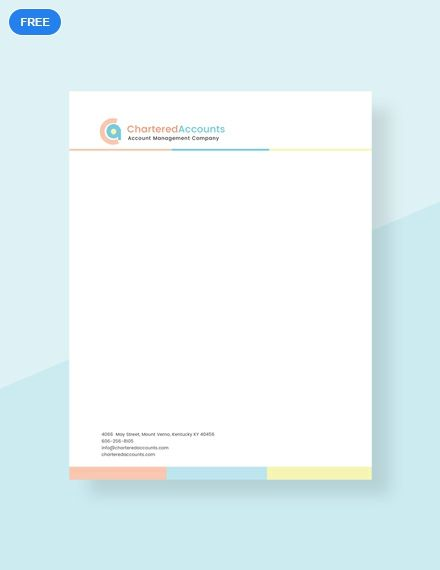 A Letterhead Template Designed To Be Easy To Use And Customize Download This For Free And Enjoy Letterhead Template Letterhead Template Word Letterhead Design